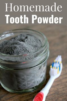 Homemade Tooth Powder. I can honestly say that I have been very happy with how my teeth feel and look after using this homemade tooth power for over a month.