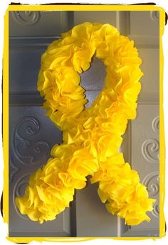 CustomMade Home Decor (Support Our Troops Yellow Ribbon door wreath)