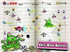 Scribble Hero App by Nickelodeon. Fighting Game Apps.