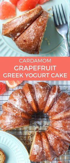 ou're going to fall in love with this Cardamom Grapefruit Greek Yogurt Cake. It has just the right amount of sweetness, slightly tart from the grapefruit and moist thanks to Greek yogurt. The cardamom spice adds a nice hint of flavor too!