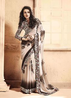 Genuine attractiveness will come out as a results of the dressing trend with this Light Beige and Brown Georgette Saree. The ethnic Printed & Lace work at the clothing adds a sign of attractiveness statement with your look. Buy Online Designer Ethnic Saree, Casual Wear, Daily Wear, Party Wear, Kitty Party Wear, Sarees, Shari, Sari, Indian Saris For women. We have large range of Designer Printed Sarees Online in our website with the best pricing and unique designs shipping to World Wide.
