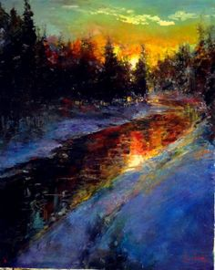 """ Warm Winters Sunset"" by Stephen Shortridge"