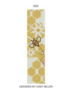 Bee Peyote Bracelet Pattern