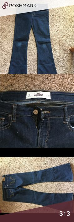Hollister Darkwash Flare Jeans Sz 11 Hollister Darkwash Flare Pants Size 11 W 30. Do not fit anymore, trying to minimize closet. Some fading on the knees & pilling on the side of the leg (photos to show). Make an offer! Smoke-free home. Want any additional photos/ descriptions ask. NO TRADES! Also on Ⓜ️ Hollister Pants Boot Cut & Flare