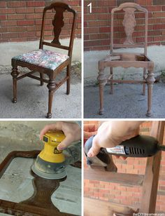How to sand & repaint a chair #diy