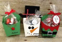 2015 Jan Girl: Stampin' Up Christmas Fry Boxes Christmas Favors, Christmas Paper Crafts, Stampin Up Christmas, Christmas Projects, Holiday Crafts, Christmas Crafts, Christmas Decorations, Christmas Ornaments, Christmas Snowman