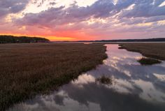 """""""Beginnings"""" (Accomack County along the causeway to Assateague National Wildlife Refuge) by Al Warfield (featured in the Richmond Times-Dispatch on December 27, 2014). Fun Fact: This is a 2014 Virginia Vistas Photo Contest Honorable Mention winner in our Rivers & Waterways Category. ENJOY!!"""