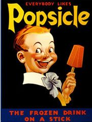 vintage ad for popsicles.