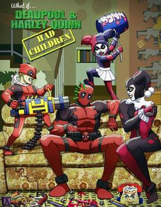What if Harley Quinn and Deadpool had kids?