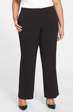 Anne Klein Classic Straight Leg Pants (Plus Size) available at #Nordstrom