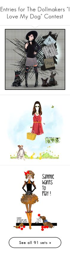 """Entries for The Dollmakers ""I Love My Dog"" Contest"" by kbarkstyle ❤ liked on Polyvore featuring art, contestdogs, dolls, dogs, medieval, love, MyStyle, inspiration, contestentry and neon"