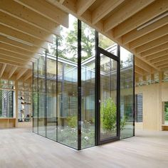 The founders of Kinderkrippe Nursery School in Hamburg commissioned Kraus Schönberg Architekten to design a space where students can directly interact with nature. A central atrium floods the main circulation areas, also a place for active play, with ample daylight. : Hagen Stier. #architecture #interiors #design #interiordesign #school #wood #germany... - Interior Design Ideas, Interior Decor and Designs, Home Design Inspiration, Room Design Ideas, Interior Decorating, Furniture And…