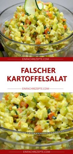 A wrong potato salad that tasted all who tasted it. B … - Salat Salad Recipes Healthy Lunch, Salad Recipes For Dinner, Chicken Salad Recipes, Easy Healthy Recipes, Eating Healthy, Healthy Cooking, Corn Salads, Easy Salads, Easy Meals