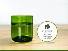 KLEINER / Ø 7-7,5CM / DUNKELGRÜN (Glas / Becher) von Gläserne Transparenz auf DaWanda.com