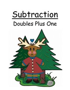 Fern Smith's Center Game Math ~Over 50 Pages~ Subtraction Doubles Plus One Concept