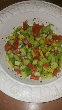 Cucumber and Tomato and Avocado salad