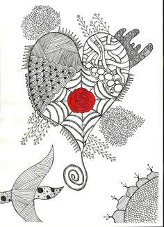 Heart Zentangles   Heart Zentangle by smileyface001