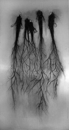Tree Tattoo Men Roots Nature 15 Ideas For 2019 Arte Horror, Horror Art, Kunst Online, Creation Art, Dark Art Drawings, Scary Drawings, Creepy Art, Dark Fantasy Art, Oeuvre D'art