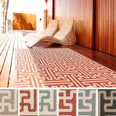 Meticulously Woven Nikki Contemporary Geometric Indoor/Outdoor Area Rug (5'3 x 7'6)