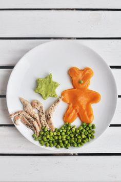 Z cyklu: Przepisy dla dzieci. Pieczony indyk z purée z marchewki i groszku | Make Cooking Easier