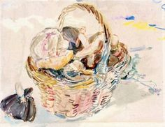 Basket with Mushrooms  -    Oskar Kokoschka