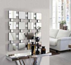 Espejos modernos de cristal TETRA. Decoracion Beltran, tu tienda online con todos los diseños en espejos.