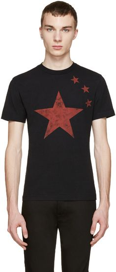 Diesel Black & Red T-Neptun T-Shirt
