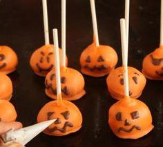 Halloween Pumpkin Cake Pops picture - (c) 2010 Elizabeth LaBau, licensed to About.com, Inc.