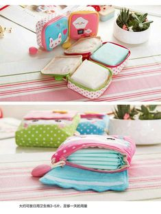 Sewing Bags Buy Home Simply Sanitary Pad Pouch Small Sewing Projects, Sewing Hacks, Sewing Tutorials, Sewing Patterns, Tutorial Sewing, Pouch Tutorial, Bag Patterns, Felt Crafts, Fabric Crafts