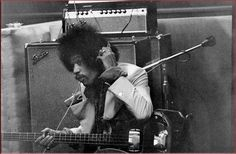Rare photo of Jimi Hendrix laying down a BASS track at the Electric Lady Studios