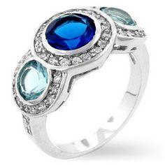 Classic Blue Cubic Zirconia Ring