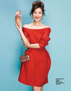 Jin Jing styles Liu Wen in this simple but magnetic studio shot by Zack Zhang for Elle China's