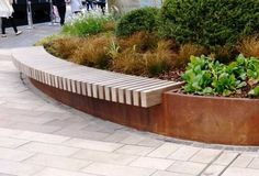 Blueton street furniture - Ref Corten Steel planter island Blueton Limited - The new name in Steel Retaining Wall, Garden Retaining Wall, Retaining Walls, Street Furniture, Garden Furniture, Corten Steel Planters, Wall Seating, Garden Seating, Outdoor Seating