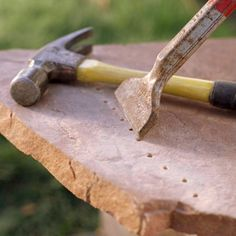 Cutting paving stones