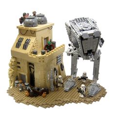 https://flic.kr/p/QcnxQH | Dodging Patrols | I built this to coincide with my review of the set 75153 AT-ST Walker, which you can check out here! I studied bits from the trailer and combined them into this representation of Jedha.