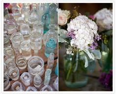 no mason jars but I would use mix and match bottles/vases as decorations...you can get them for 10 cents a piece at any good will