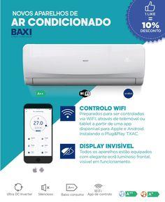 Ar condicionado Baxi Nori. Para regular a temperatura de uma divisão na sua casa. Informe-se connosco.
