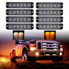 30W IP68 6-LED Emergency Warning SYNC Strobe Light Surface Mount Car Truck 12V-24V  (Fulfilled by Amazon - Fast shipping: 2-7 business days) Strobe Light, Strobing, Bar Lighting, Amber, Surface, Trucks, Lights, Led, Amazon