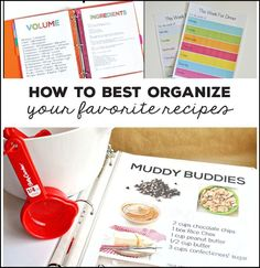How to Organize Your Recipes! Get a system down to make life easier and more organized.