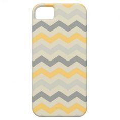 Gray yellow chevron zigzag print zig zag pattern iPhone 5 cover