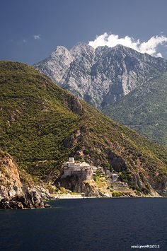 Monastery of Saint Dionysius, Mount Athos, Greece by Vasilis Protopapas Greece Travel, Greece Trip, The Places Youll Go, Places To Go, Beautiful World, Beautiful Places, Ancient Greek Theatre, Fantasy Places, Greece Islands