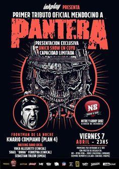 Tributo a Pantera, en Mendoza! Invitado, Knario de PLAN 4! #RockCityLive presenta un tremendo #Tributo a #Pantera! El #Viernes 7 de #Abril, detona el #N8Estudio! #Frontman de la velada, Knario Compiano de #Pla... http://sientemendoza.com/event/tributo-a-pantera-en-mendoza-invitado-knario-de-plan-4/