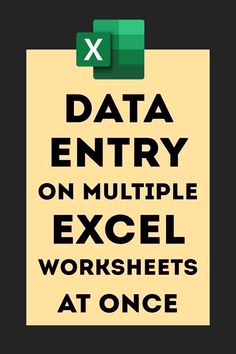 Data Entry on Multiple Worksheets At Once – Excel formulas and functions – Basic Excel Formulas Computer Help, Computer Technology, Computer Programming, Computer Lessons, Computer Tips, Business Technology, Microsoft Excel Formulas, Vba Excel, Excel Hacks