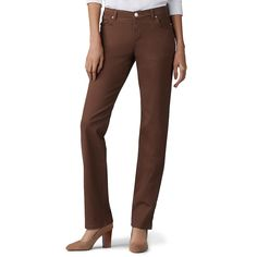 Women's Lee Relaxed Fit Straight Leg Jeans, Med Brown