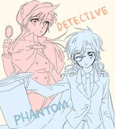 Detective Conan ❤ Ran And Shinichi, Kudo Shinichi, Magic Kaito, Sherlock Holmes, Detective Conan Shinichi, Gosho Aoyama, Kaito Kid, Detektif Conan, Case Closed
