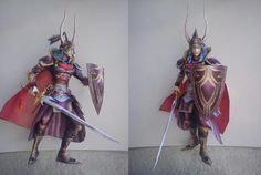 Dissidia - Final Fantasy - Warrior Of Light Paper Model - by Ace Crafts  ==          A perfect recreation of the Warior of Light, from Dissidia - Final Fantasy. From Ace Crafts.