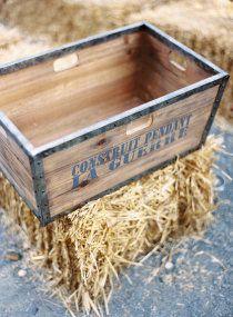 Wooden crate...bales of hay