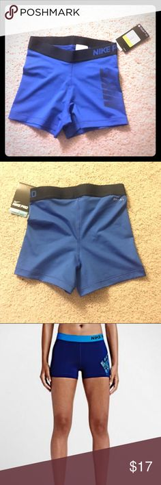 Nike Logo Training Shorts NWT! Compression Women's Training Shorts are designed with stretchy Dri-Fit Fabric that keeps you dry and comfortable while working out. Nike Shorts