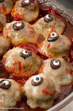 Halloween Cocktail Meatball Eyes