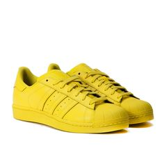 """Order the adidas x Pharrell Williams Superstar """"Supercolor Pack"""" (Yellow) and many other Sneakers from a selection of over 30 Sneaker brands at the Allike sneaker shop, world wide shipping"""